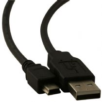 1.8m USB 2.0 Black Data Cable for GPS, Sat Nav, Digital Cameras